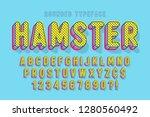 comical linear font design ... | Shutterstock .eps vector #1280560492
