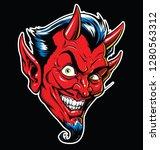Rockabilly Devil Tattoo Vector...