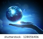 Image Of Hand Holding Earth...