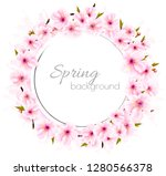 spring background with a pink... | Shutterstock .eps vector #1280566378