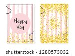 bridal shower set with dots and ... | Shutterstock .eps vector #1280573032