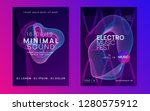 sound flyer. dynamic gradient... | Shutterstock .eps vector #1280575912