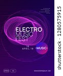 trance party. bright show cover ... | Shutterstock .eps vector #1280575915