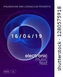 neon flyer. geometric show... | Shutterstock .eps vector #1280575918