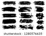 vector set of hand drawn brush...   Shutterstock .eps vector #1280576635