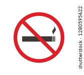 no smoking area sign icon | Shutterstock .eps vector #1280595622