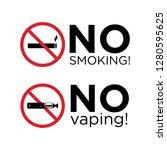 no smoking no vapor sign area... | Shutterstock .eps vector #1280595625