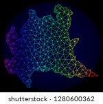 rainbow colored mesh vector map ... | Shutterstock .eps vector #1280600362