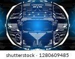 hud futuristic hi technology...
