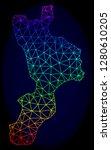 spectrum colored mesh vector... | Shutterstock .eps vector #1280610205