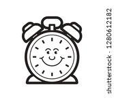black and white table alarm...   Shutterstock .eps vector #1280612182