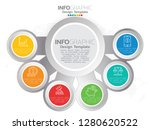 6 step of timeline infographics ... | Shutterstock .eps vector #1280620522