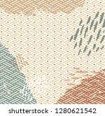 brush stroke with japanese...   Shutterstock .eps vector #1280621542