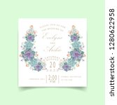 floral wedding invitation with... | Shutterstock .eps vector #1280622958