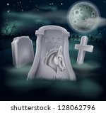 Death of Democrat Party concept of tombstone with Democrat symbol of Donkey on a grave marker (Republican version also available) - stock vector