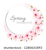 spring background with a pink... | Shutterstock .eps vector #1280631892