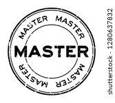 grunge black master word round... | Shutterstock .eps vector #1280637832