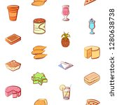 various food images set.... | Shutterstock .eps vector #1280638738