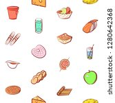 various food images set.... | Shutterstock .eps vector #1280642368