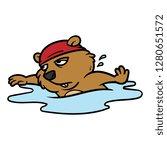 cartoon groundhog character... | Shutterstock .eps vector #1280651572