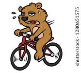 cartoon groundhog character... | Shutterstock .eps vector #1280651575