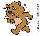 cartoon groundhog character... | Shutterstock .eps vector #1280651578