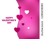 happy valentine's day hearts... | Shutterstock .eps vector #1280658085