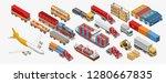 isometric logistics set of... | Shutterstock .eps vector #1280667835