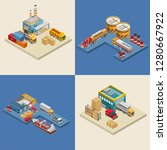 set of isometric vector... | Shutterstock .eps vector #1280667922