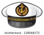 navy captain hat | Shutterstock .eps vector #128068172