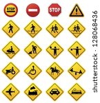 road sign set.vector | Shutterstock .eps vector #128068436