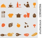 food icons set.vector | Shutterstock .eps vector #128068586