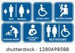 set of restroom  nursing room ... | Shutterstock .eps vector #1280698588