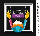 sweet cupcake of birthday and... | Shutterstock .eps vector #1280703925