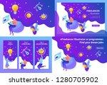 set template design article ... | Shutterstock .eps vector #1280705902