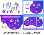 set template design article ... | Shutterstock .eps vector #1280705905