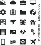 solid black vector icon set  ... | Shutterstock .eps vector #1280707702