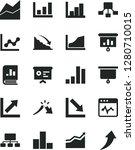 solid black vector icon set  ... | Shutterstock .eps vector #1280710015