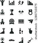 solid black vector icon set  ... | Shutterstock .eps vector #1280710375