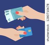 flat design of exchange gift... | Shutterstock .eps vector #1280710678