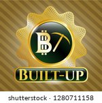 shiny badge with bitcoin... | Shutterstock .eps vector #1280711158