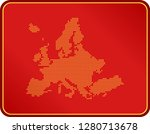 map of europe | Shutterstock .eps vector #1280713678