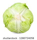 cabbage isolated on white with... | Shutterstock . vector #1280724058