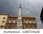 san domenico obelisk in naples... | Shutterstock . vector #1280724628