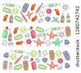 cough  pills  influenza  flu ...   Shutterstock .eps vector #1280742742
