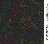 cough  pills  influenza  flu ...   Shutterstock .eps vector #1280742772