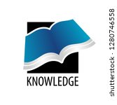 knowledge. square open book...   Shutterstock .eps vector #1280746558