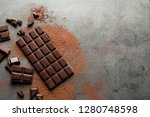 flat lay composition with tasty ... | Shutterstock . vector #1280748598