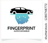 finger print auto car logo... | Shutterstock .eps vector #1280748772