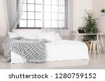stylish room interior with... | Shutterstock . vector #1280759152